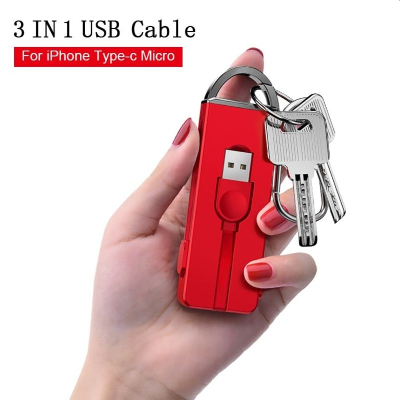 3-in-1 USB Charging Cable for iPhone and Android Devices