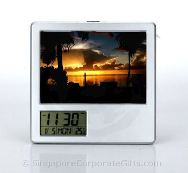 Photoframe with Pen Holder and Alarm Clock