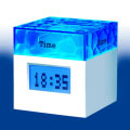 Water Cubic Clock 608