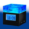 Water Cubic Clock  with 4 USB Hub 608B