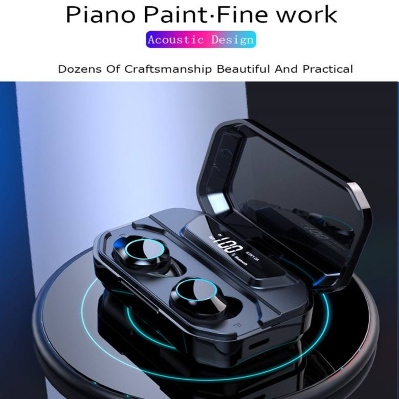 IPX7 TWS Earphone Bluetooth 5.0 HiFi Sound, Touch control 3300mA
