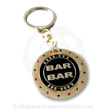 Exclusive Metal Casino Chip Keychain