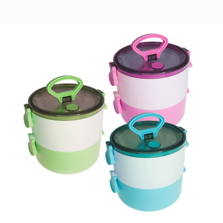 Double Layer Lunch Box with Carry Handle
