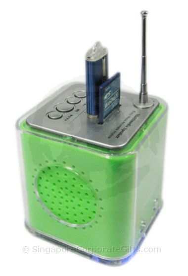 MP3 Speaker with Radio (Thumdrive and SD Card Input) Cube