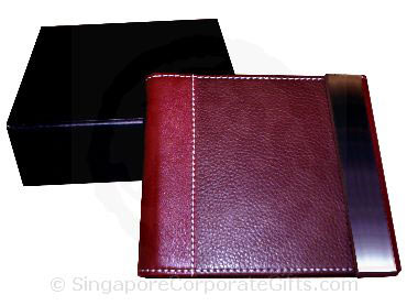 PU leather Note Book with calculator and pen