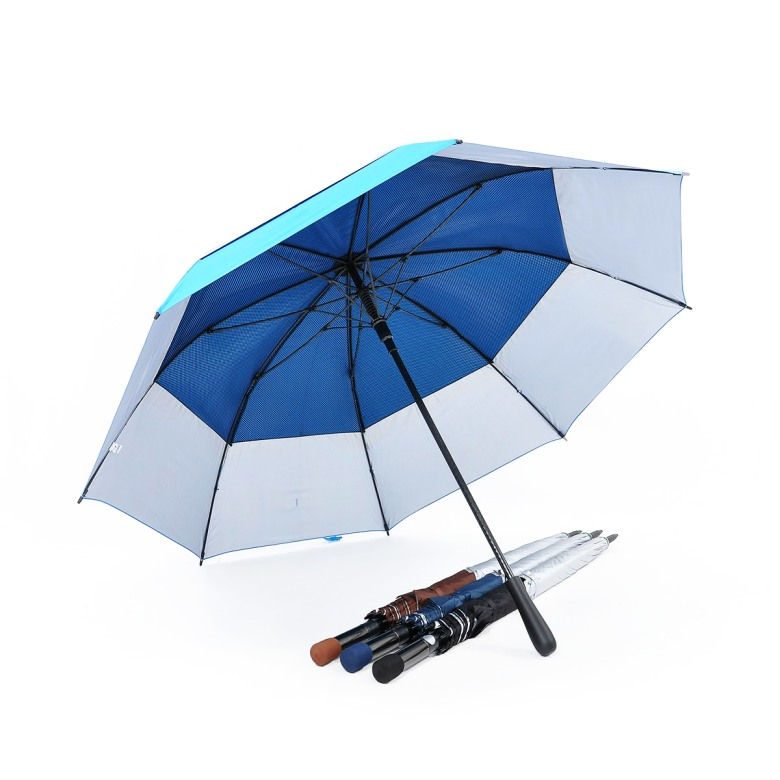 Double Tiered. Auto Open, UV Coated, Windproof Golf Umbrella (30