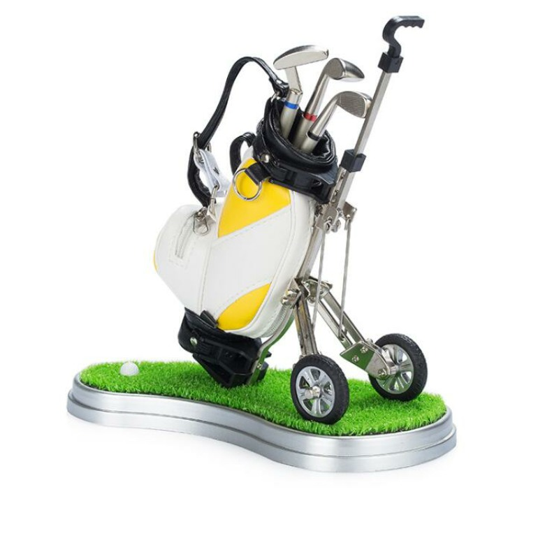 Golf Car Pen Holder with clock (with base)