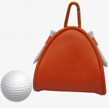Leather Golf Pouch with Golf balls and Tees