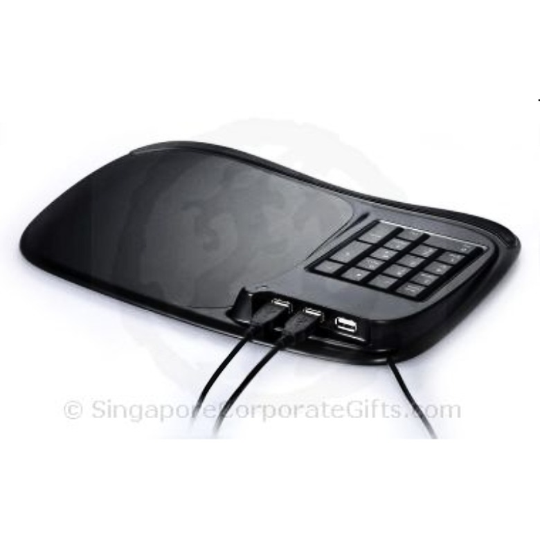 USB Hub with Mouse Pad and Numeric Keyboard (2.0) HMP-15