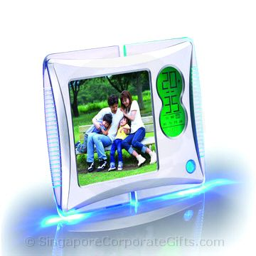 Photo frame with Calendar, Colourful LIght