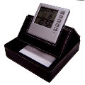 LCD Clock with memo holder & notepad