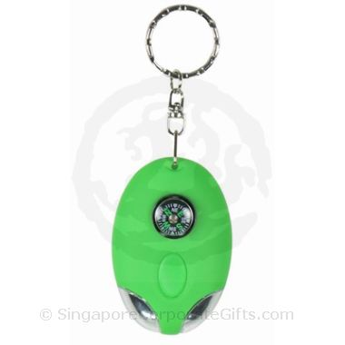 Solar Powered LED Keychian with Compass (2 LED)