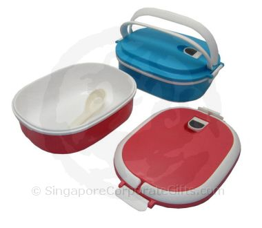 Microwave Airtight lunch box with spoon (Microwave Heating only)