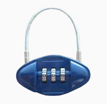 Pill Shaped Luggage Lock 2