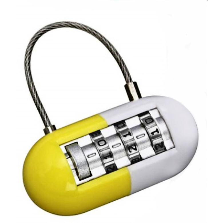 Pill Shaped Luggage Lock