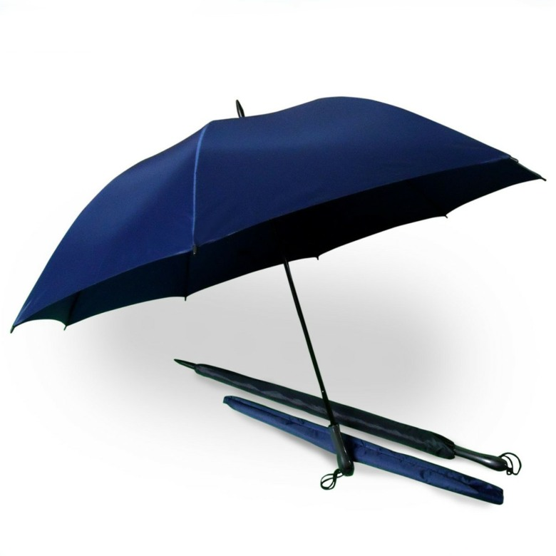 Real wood black straight handle, special mechanism golf umbrella