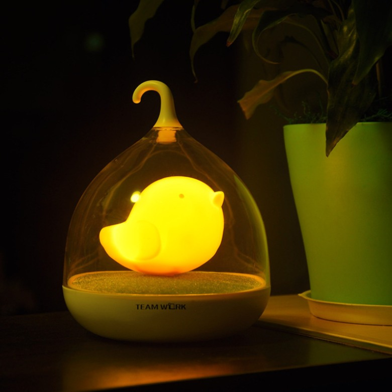 Touch Sensor Vibration Birdcage Lamp with Bird