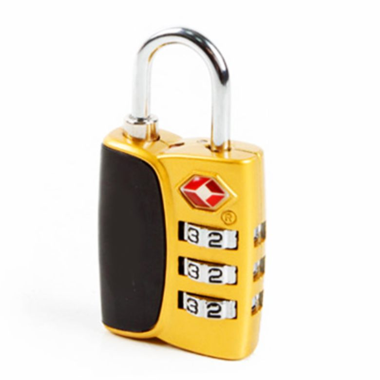 BHGold Two Tones 3-dial combo luggage TSA lock