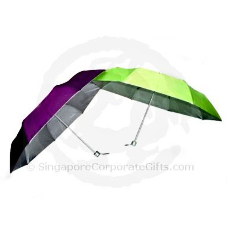 "3 fold Umbrella with UV(Int) Protection and Wind Proof (21"")"