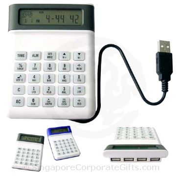4 in 1 USB Hub 2.0 With Clock and Calculator 2