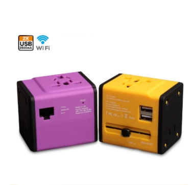 3G Wifi Router Universal Travel Adapter with 2USB