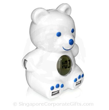 Bear USB Hub with Clock