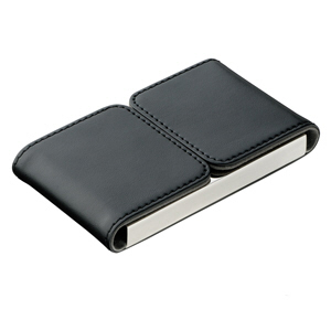 Leather  Namecard Holder with magnetic lid