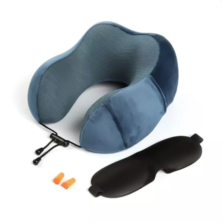 Memory Foam Neck Pillow with Strap