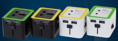 Travel Adaptor with 2 USB Hub [WP-934]