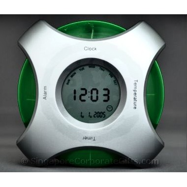 Water Powered 4 Way Digital Clock with Thermometer and Calendar